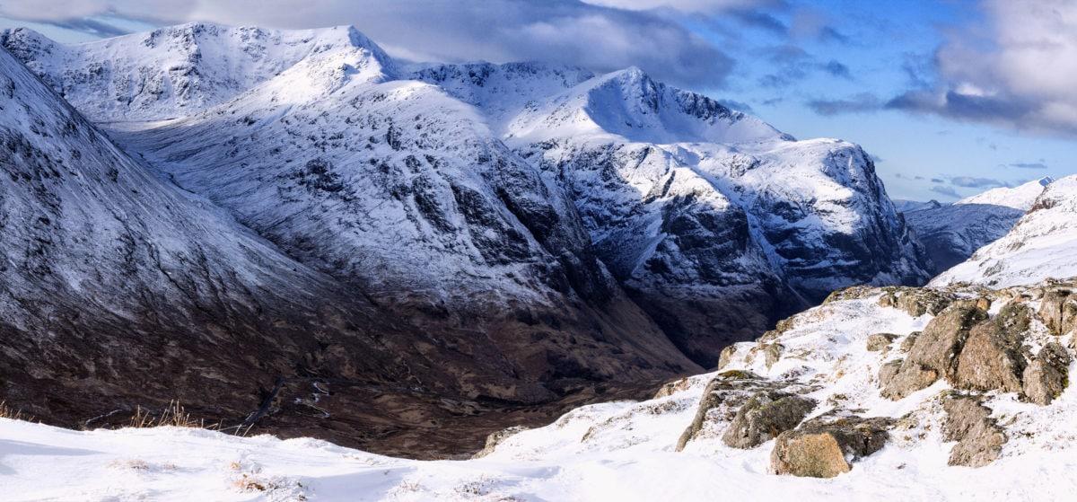 paysage, froid, crête de montagne, glacier, glace, hiver, neige, ciel bleu