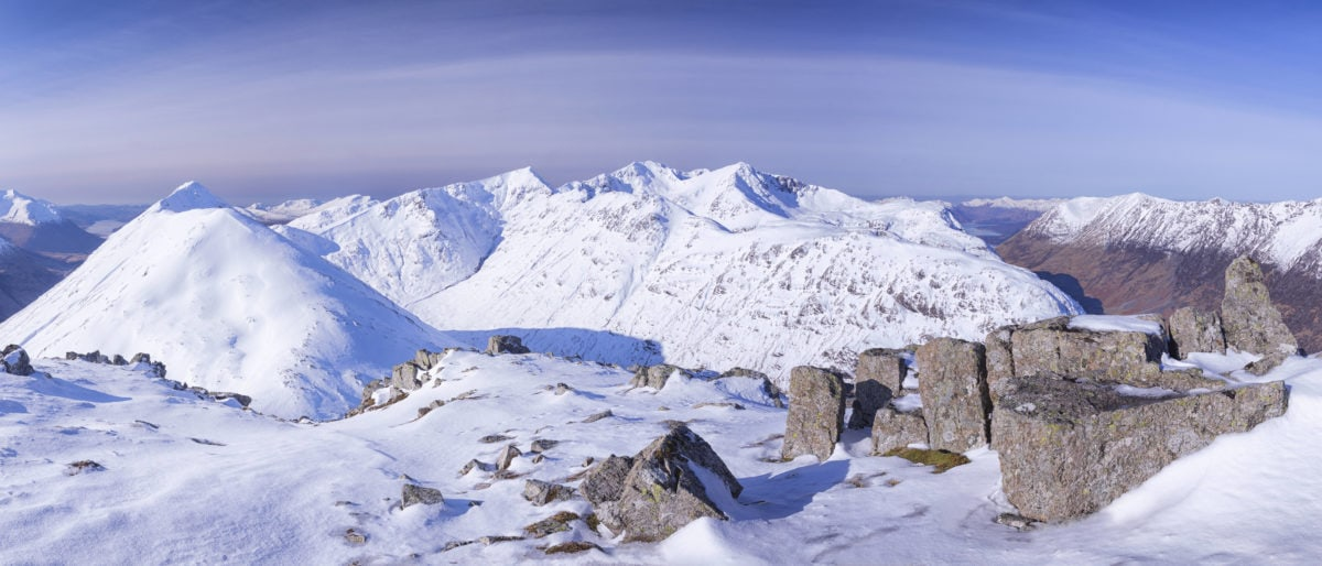 cold, day, glacier, ice, snow, panorama, mountain peak, winter, landscape, blue sky