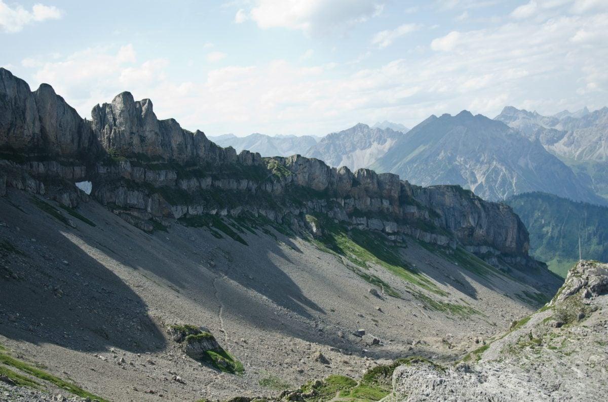landscape, blue sky, nature, mountain peak, snow, glacier, ascent, outdoor