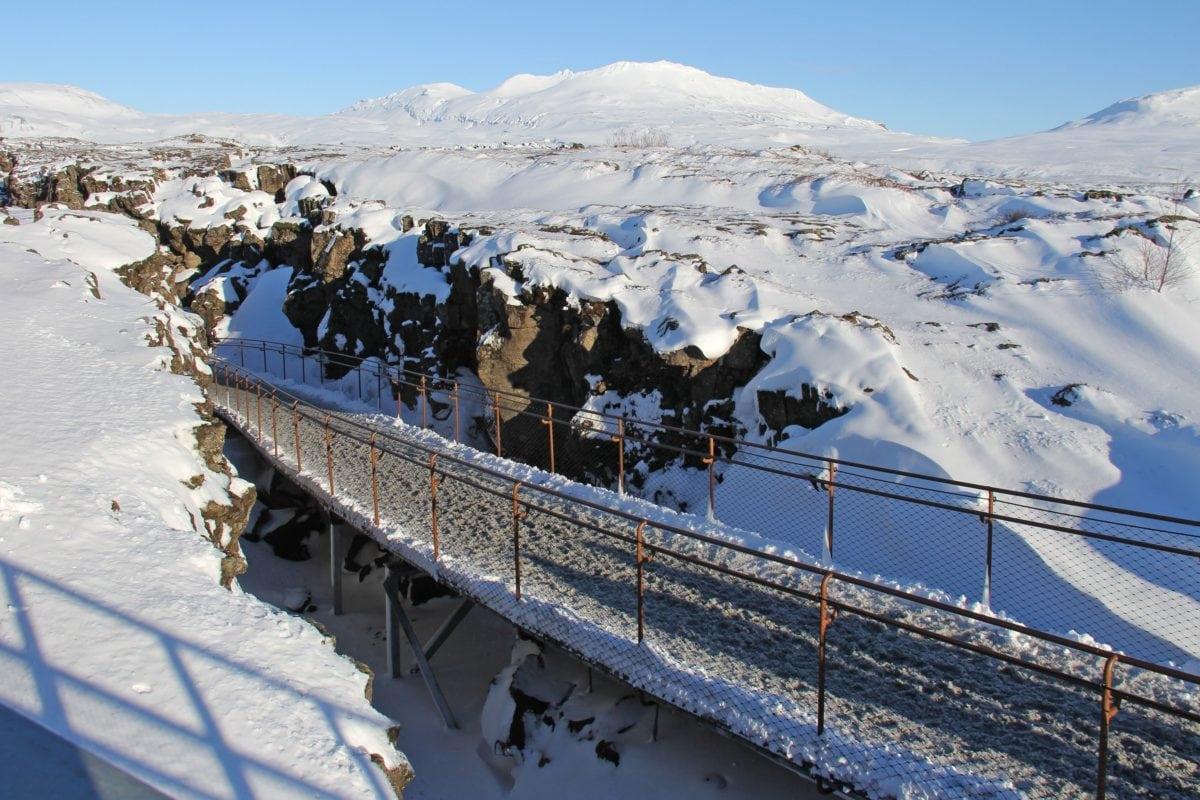 fjell, snø, frosne, gjerde, vinter, kulde, landskap, is, blå himmel, ås