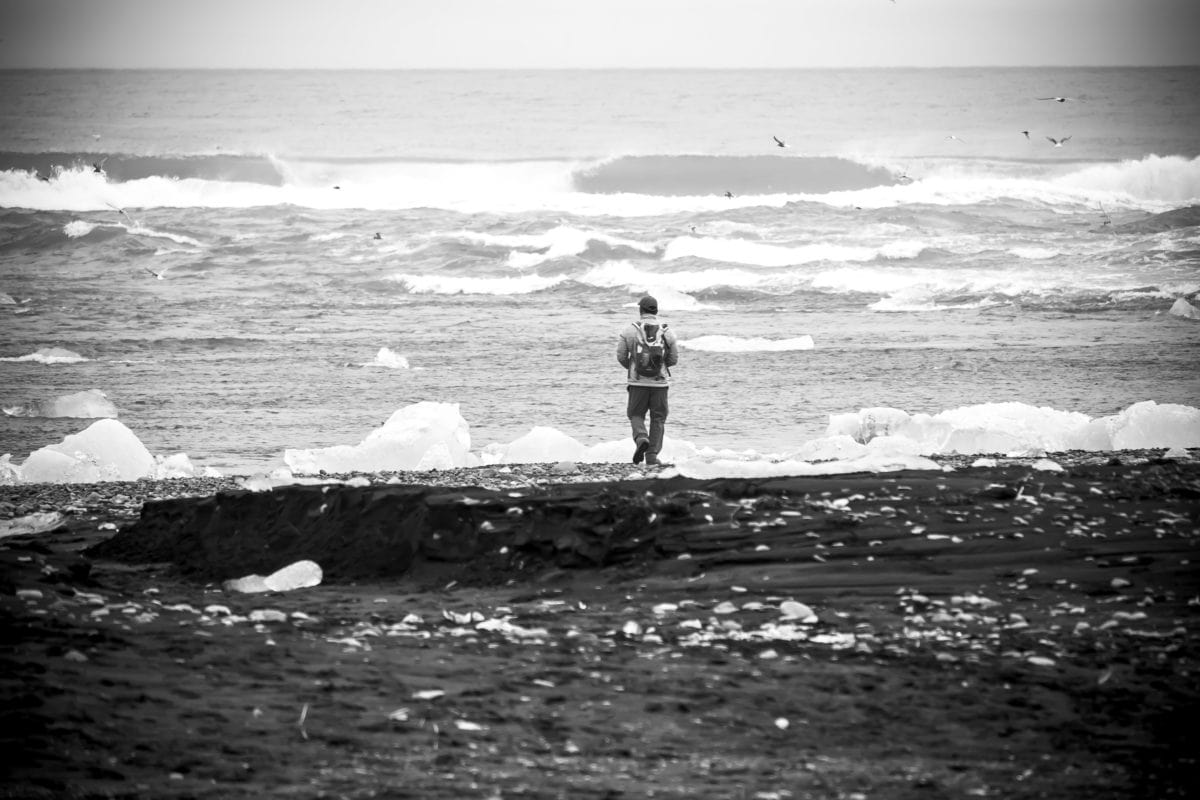 pobřeží, oceán, voda, černobílý, vlna, moře, pláž, pobřeží