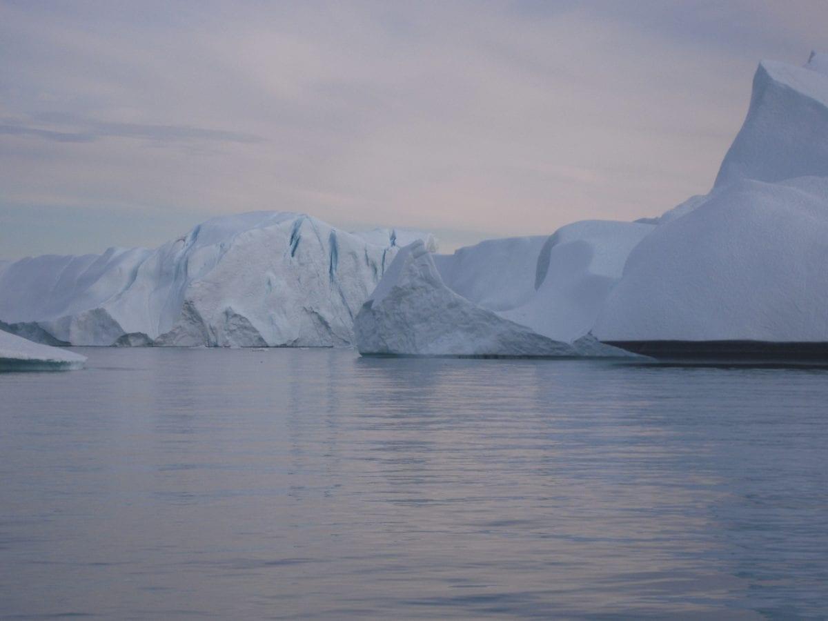 Grónsko, Hora, LED, krajina, sníh, ledovec, voda, ledovec