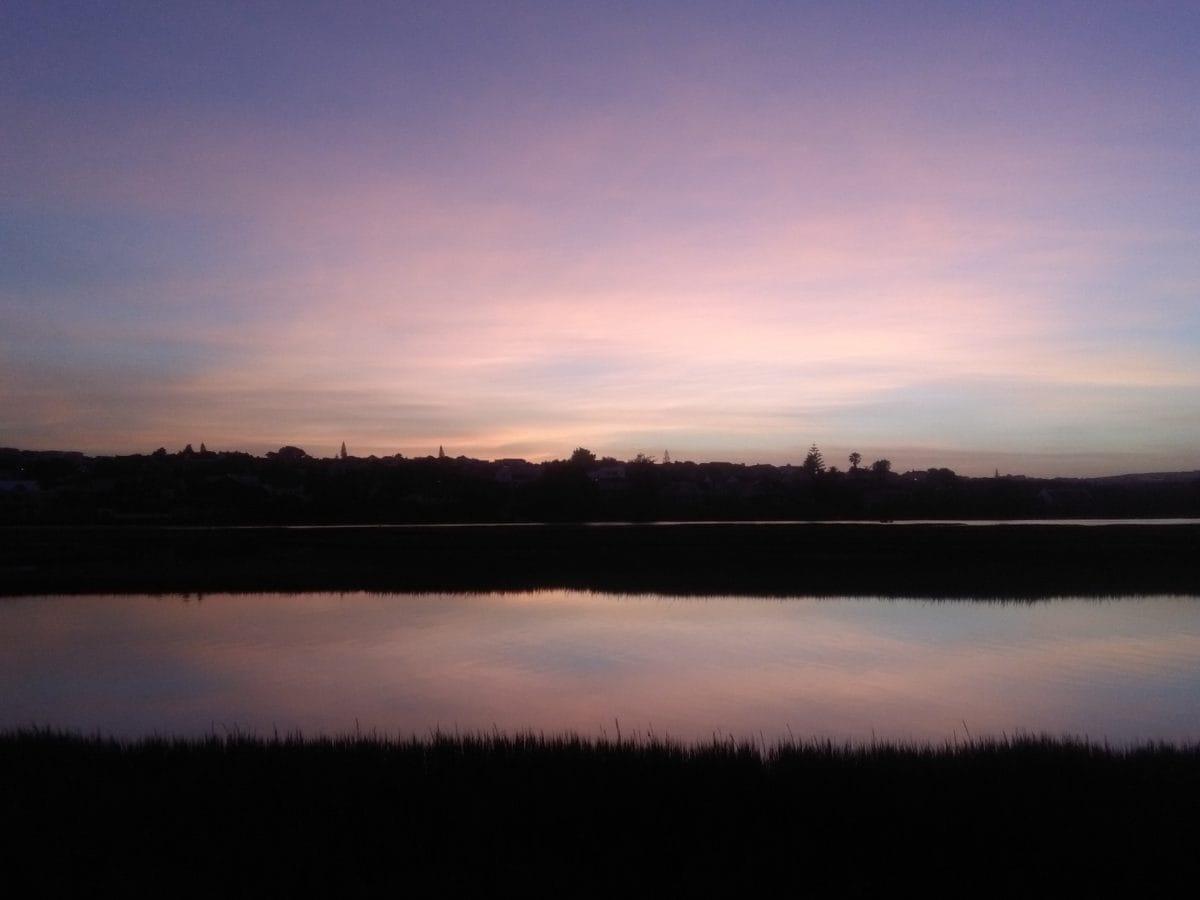 atardecer, lago, amanecer, paisaje, agua, cielo oscuro, atmósfera, Cuenca