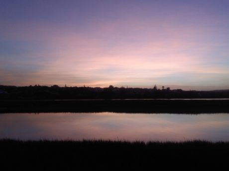 Sunset, lake, fajar, lanskap, air, langit gelap, suasana, basin