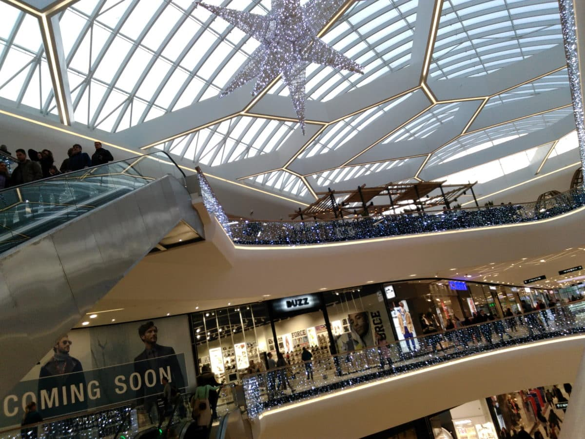 city, shopping mall, interior, people, crowd, moder, hall, indoor