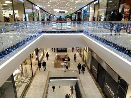 shopping mall, luxury, indoor, urban, luxury, people, architecture