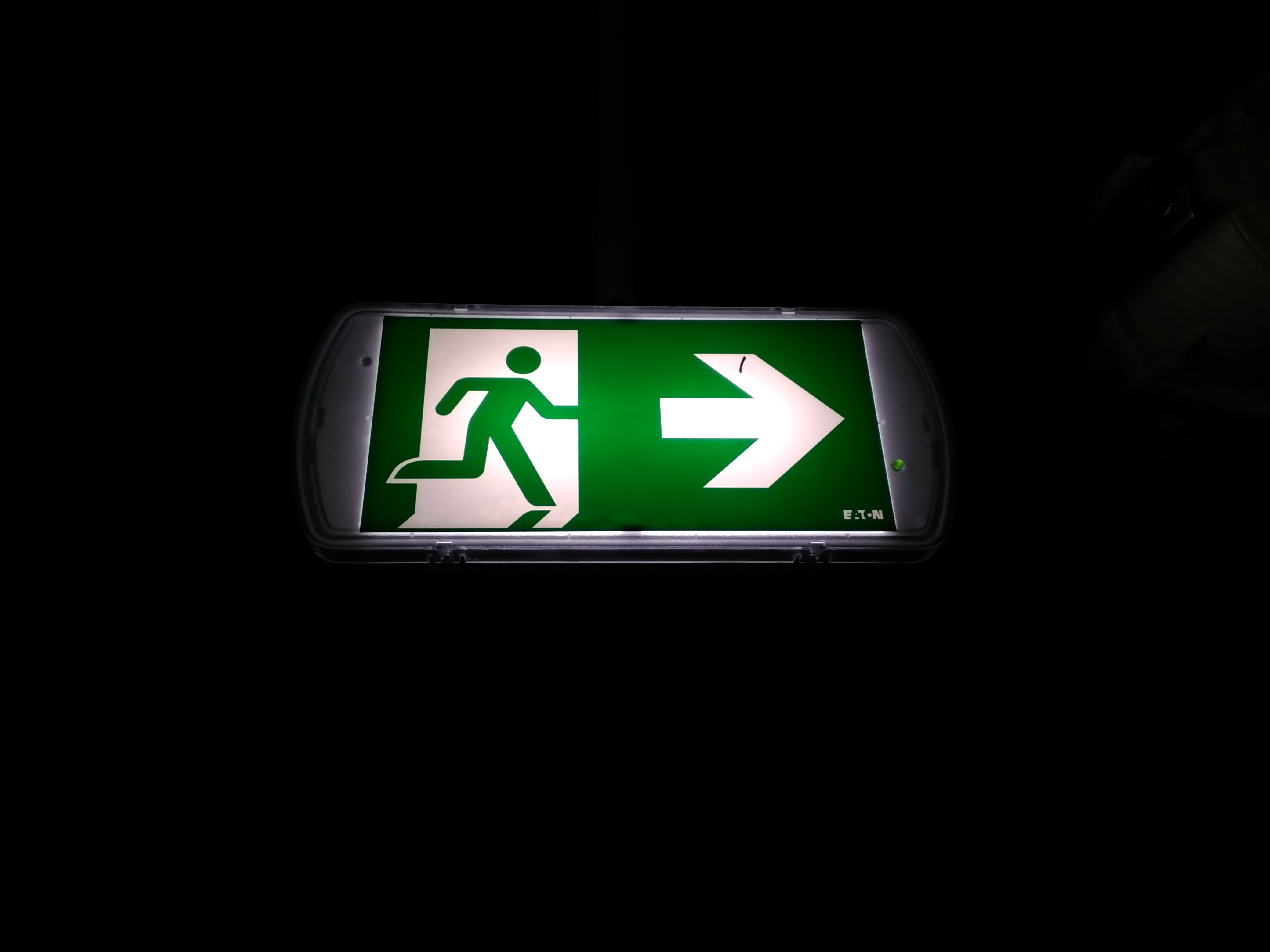 Free Picture Image Exit Sign Symbol Design Darkness
