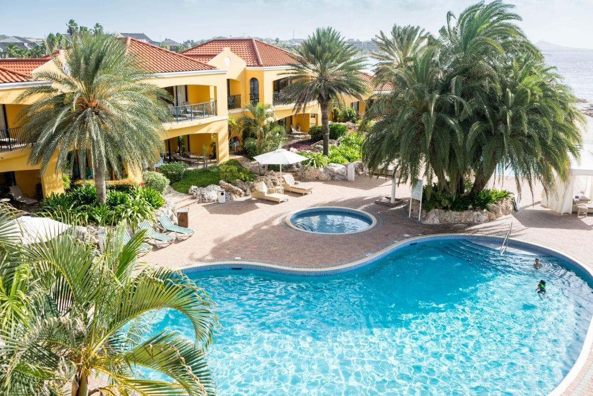 musim panas, surga, villa, eksterior, mewah, pohon palem, tepi kolam renang, Pantai
