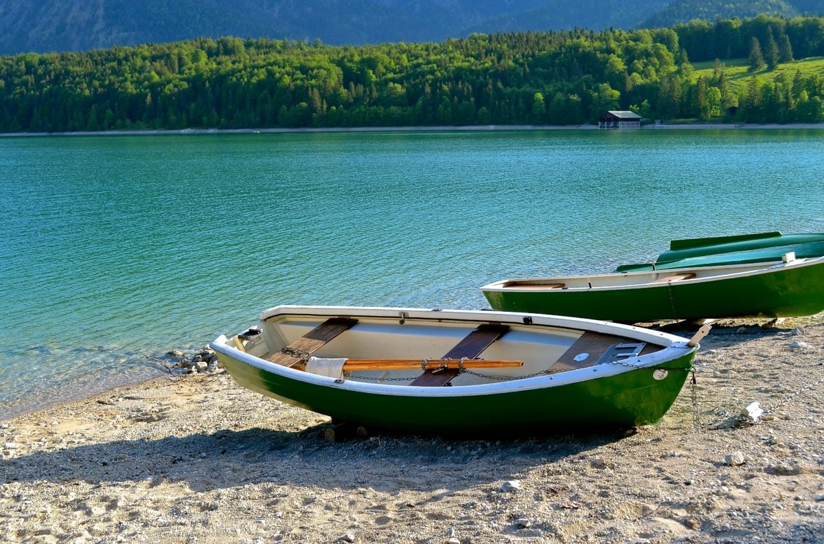 lake, water, summer, canoe, boat, outdoor, ground, green