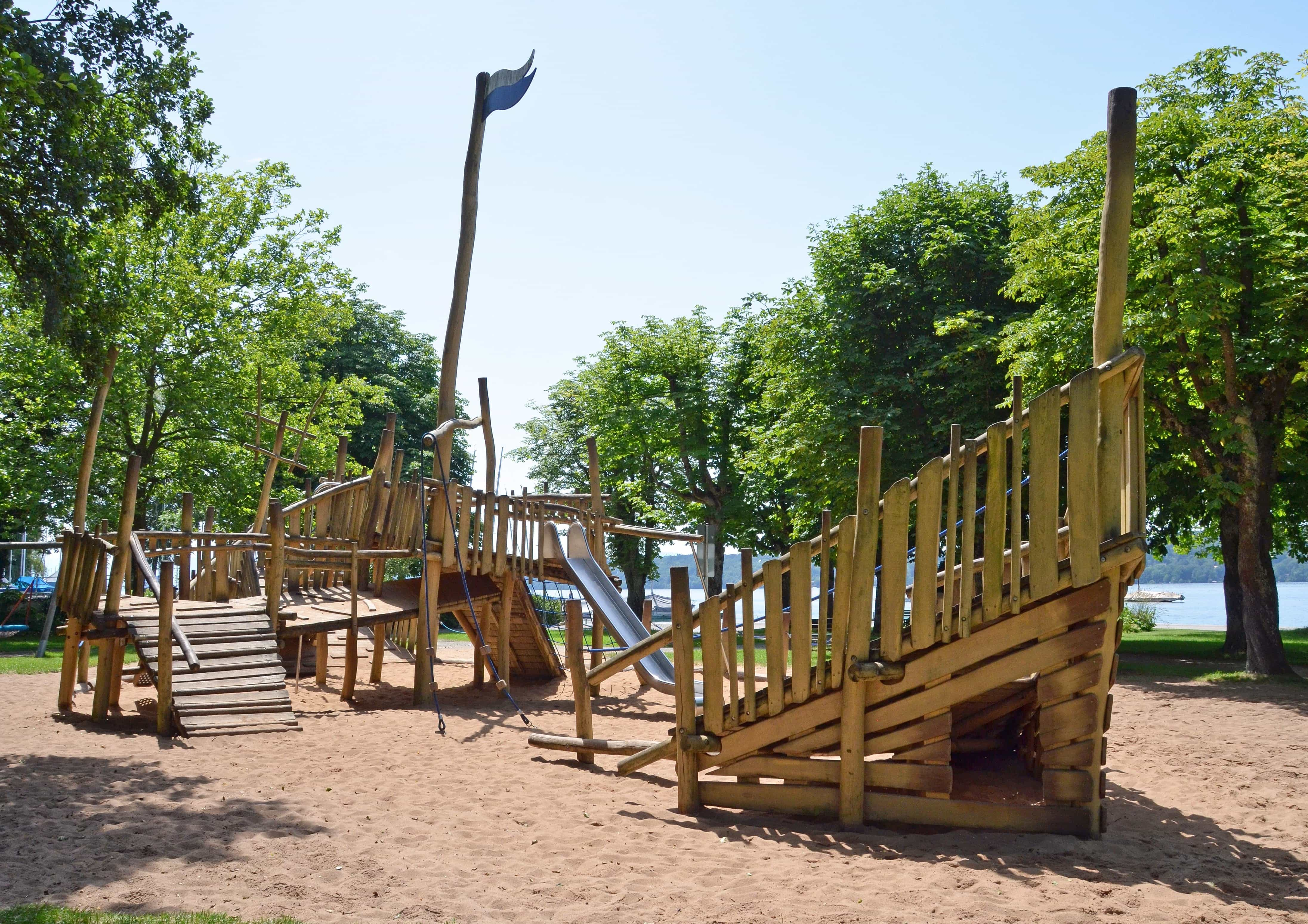 wood, playground, summer season, urban area, region, park, location, tree, outdoor