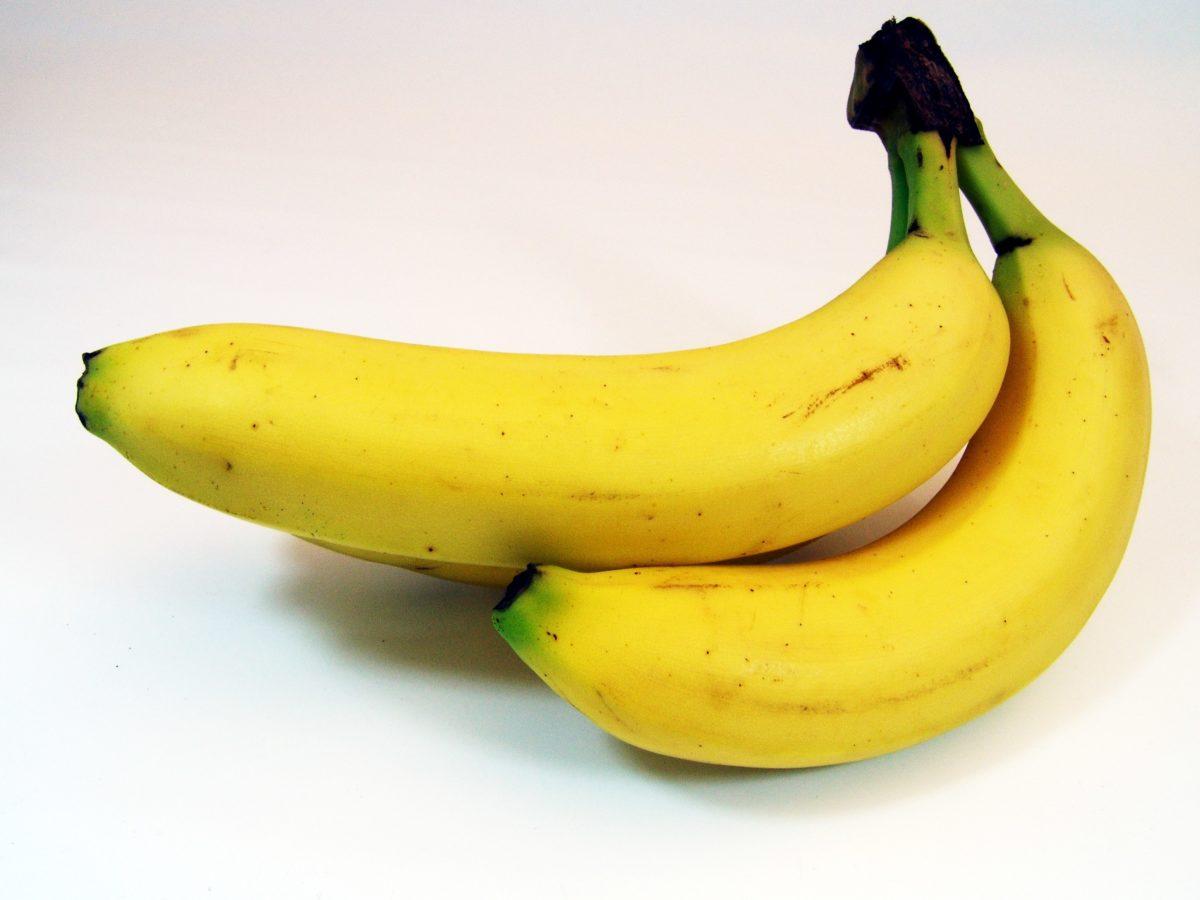 fruit, gele banaan, voedsel, voeding, biologisch, maaltijd, vegetarisch