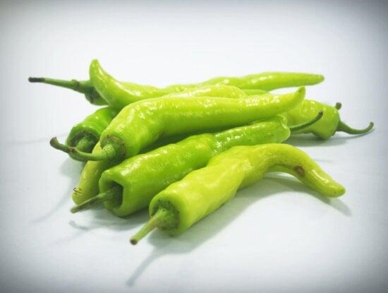 antioxydant, nourriture, légume, Capsicum, organique, piment vert, épice, salade