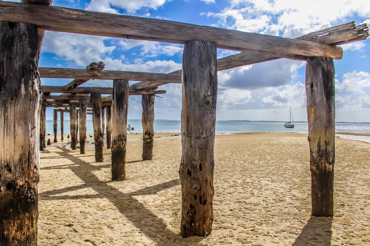 天空, 海, 海滩, 码头, 海洋, 阳光, 沙子, 水, 景观, 岛屿