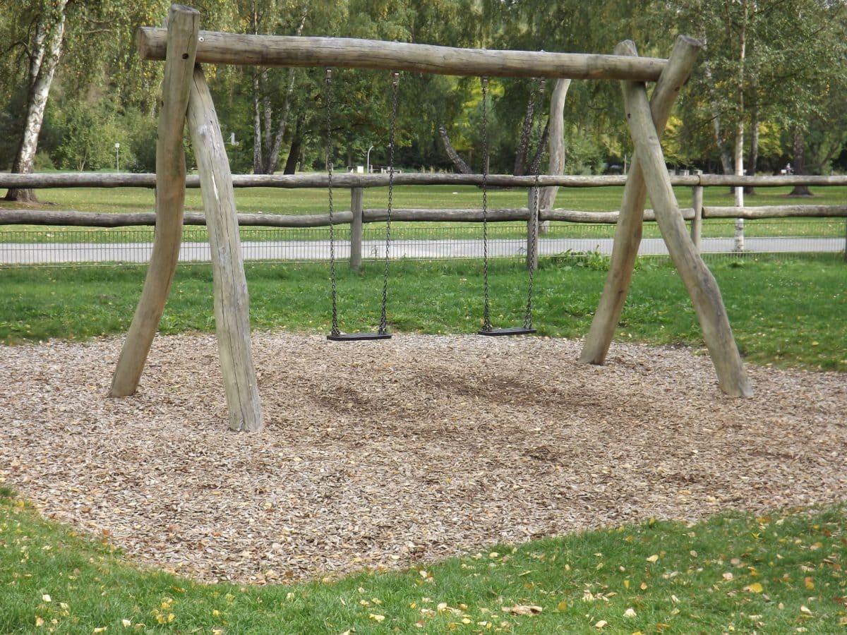 park, grass, nature, playground, fence, wood, tree, outdoor, ground
