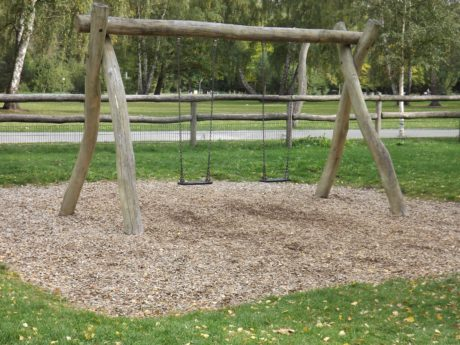 park, grass, nature, playground, fence, wood, tree, outdoor, ground