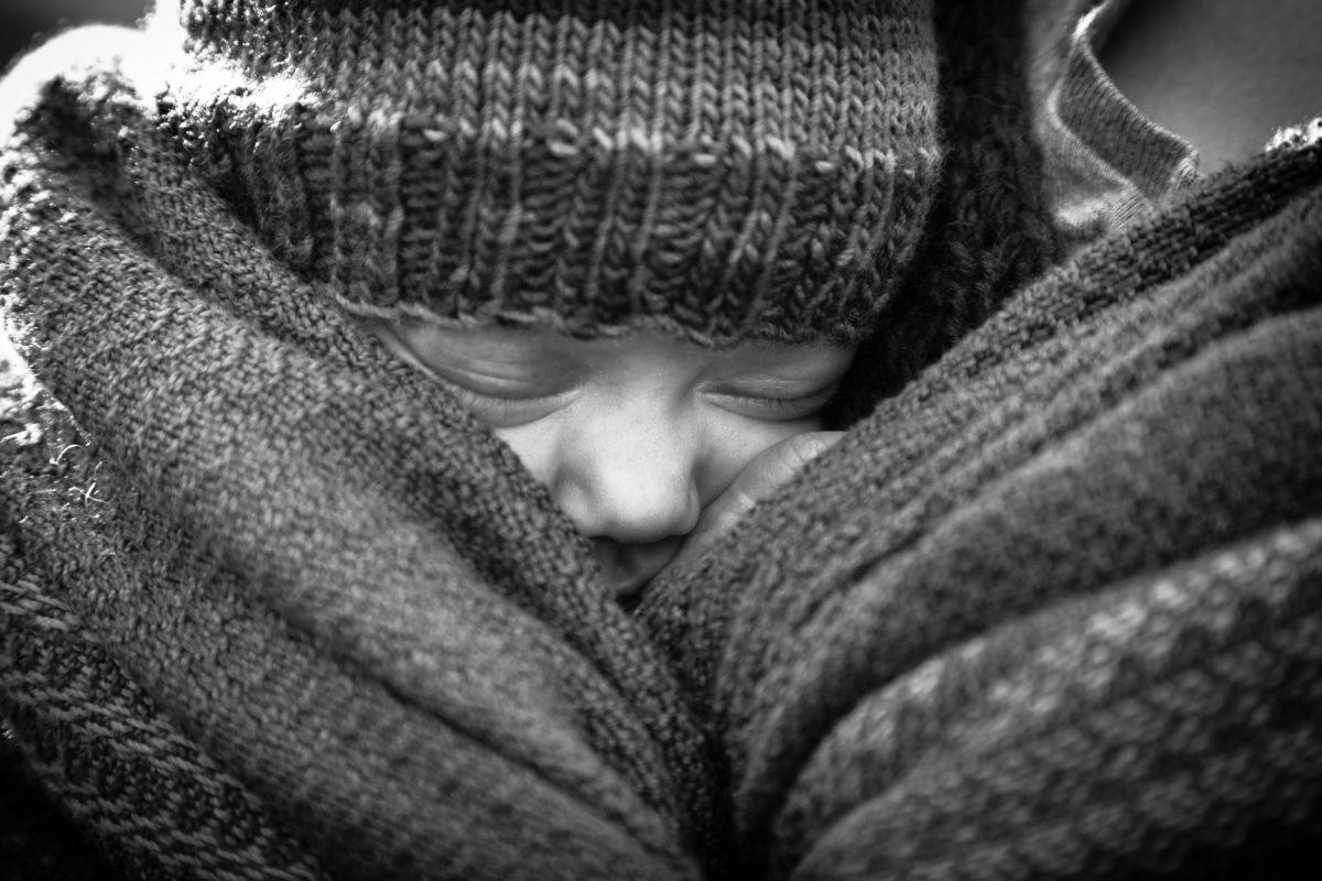 dítě, černobílý, obličej, ručník, len, obličej, portrét, roztomilý