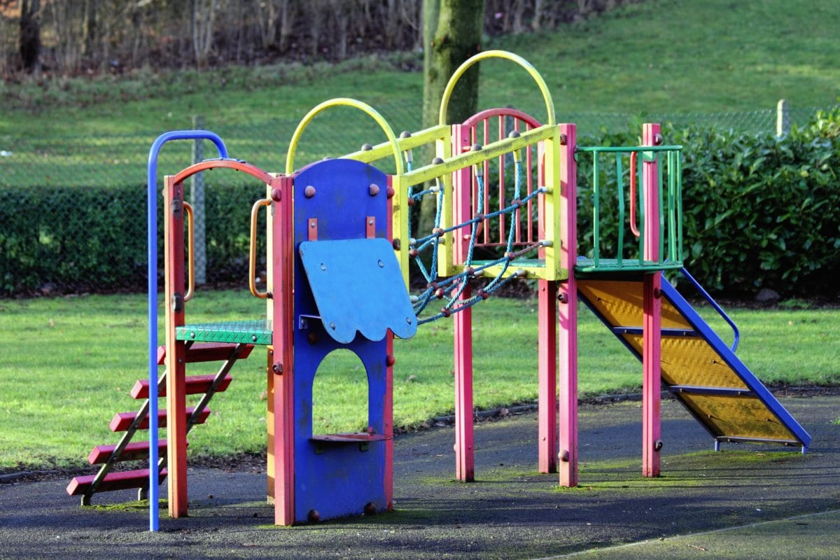 slide, summer, playground, area, colorful, object, grass, outdoor