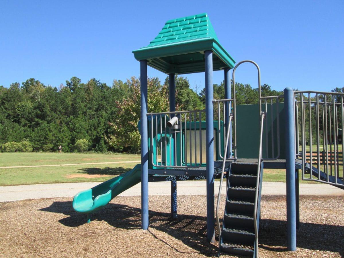 estate, parco giochi, scivolo, zona, regione, posizione, cielo, outdoor