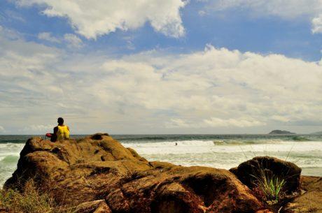 paesaggio, mare, persona, acqua, tramonto, spiaggia, oceano, Costa, litorale