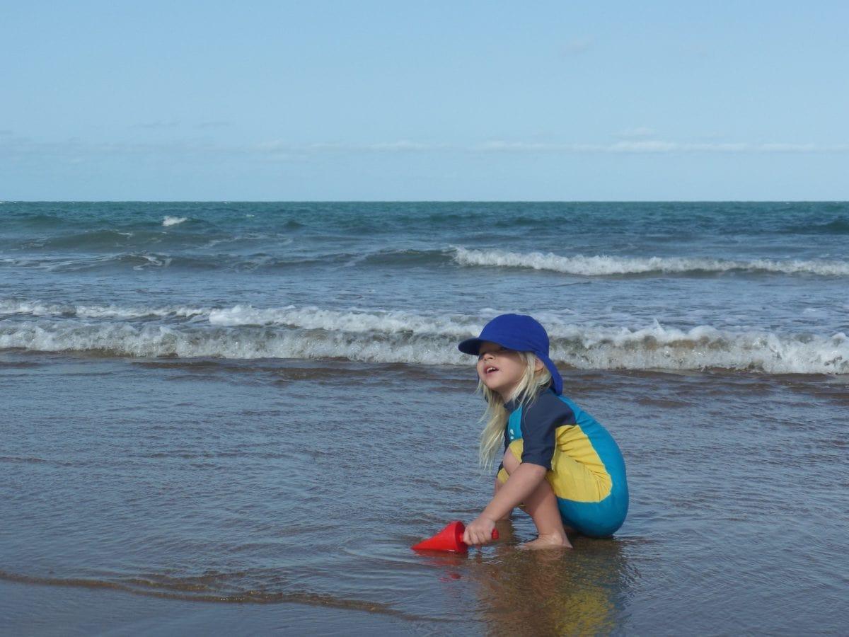 spiaggia, bambino, costume da bagno, acqua, Beach, mare, sabbia, estate, all'aperto