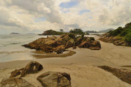 море, берег, пляж, ландшафт, пісок, вода, океан, Приморський