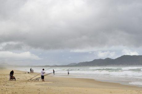 pesca sportiva, cielo, mare, oceano, acqua, sabbia, spiaggia, mare, Costa, cresta