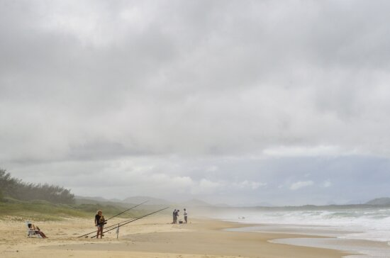 fishing, sea, nature, sky, beach, sand, ocean, seaside, coast