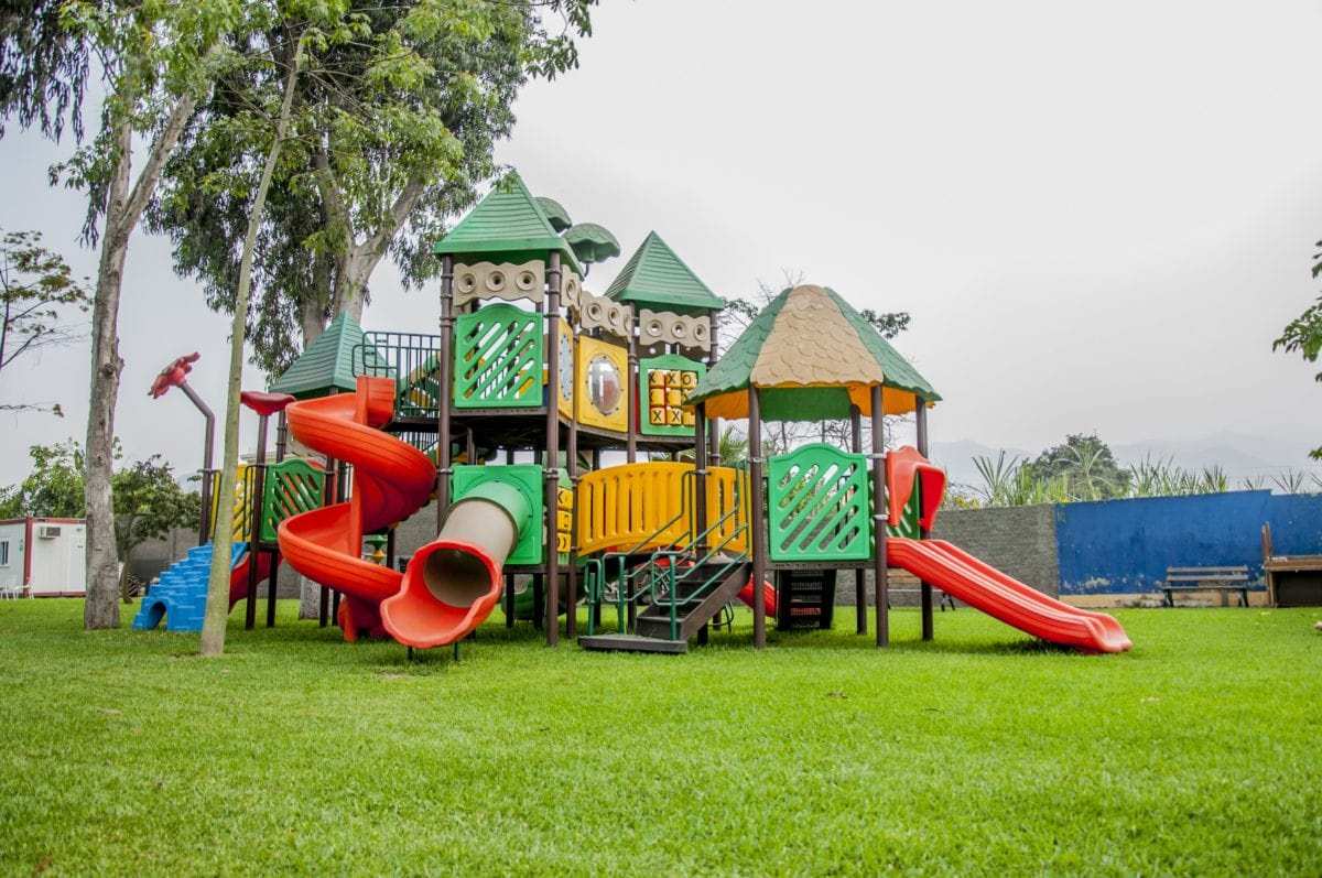 zahrada, trávník, Park, dřevo, léto, tráva, dětské hřiště, dřevěné, prostor
