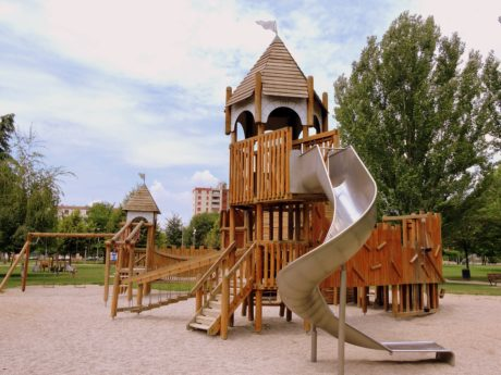 wood, summer, playground, patio, area, structure, architecture, sky, outdoor