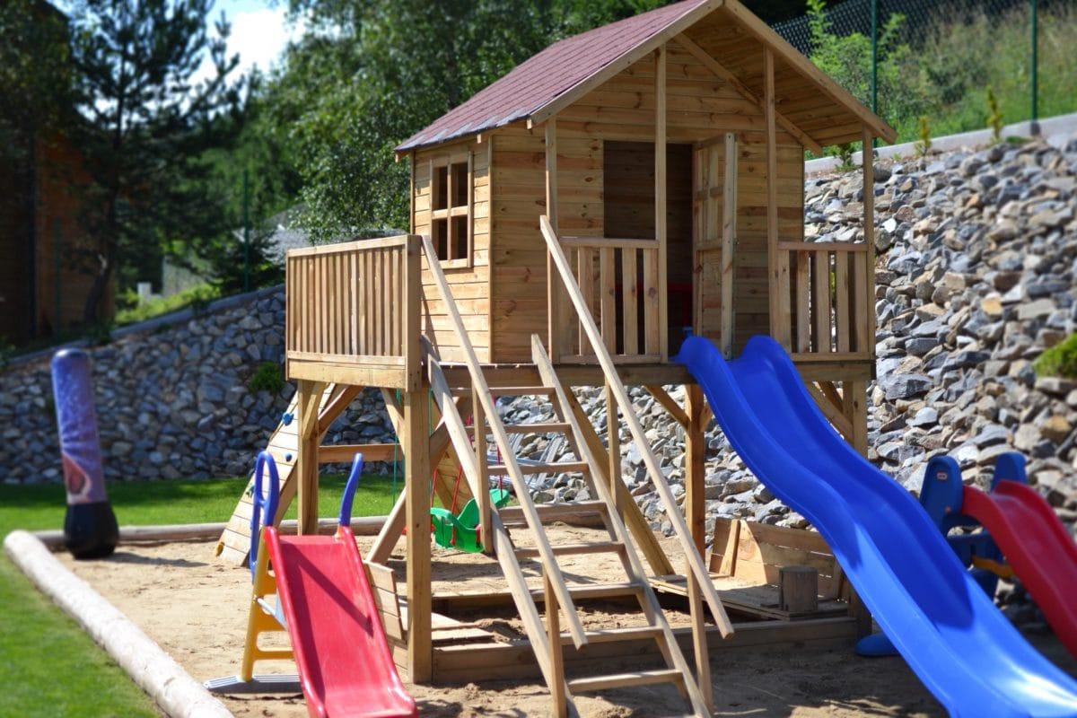 tuoli, Slide, puu, leikki kenttä, kesä, alue, alue, sijainti