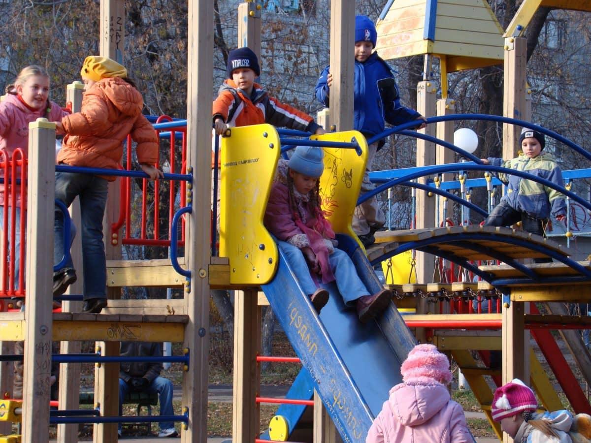 djeca, igra, Outdoor, urbano područje, osoba, dječje igralište