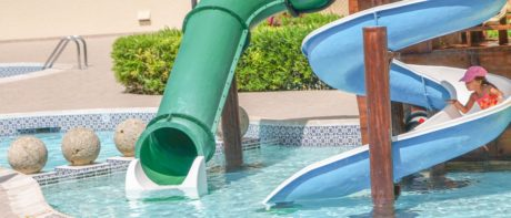 수영장, 놀이터, 럭셔리, 여름, 젖은, 물, 풀 사이드