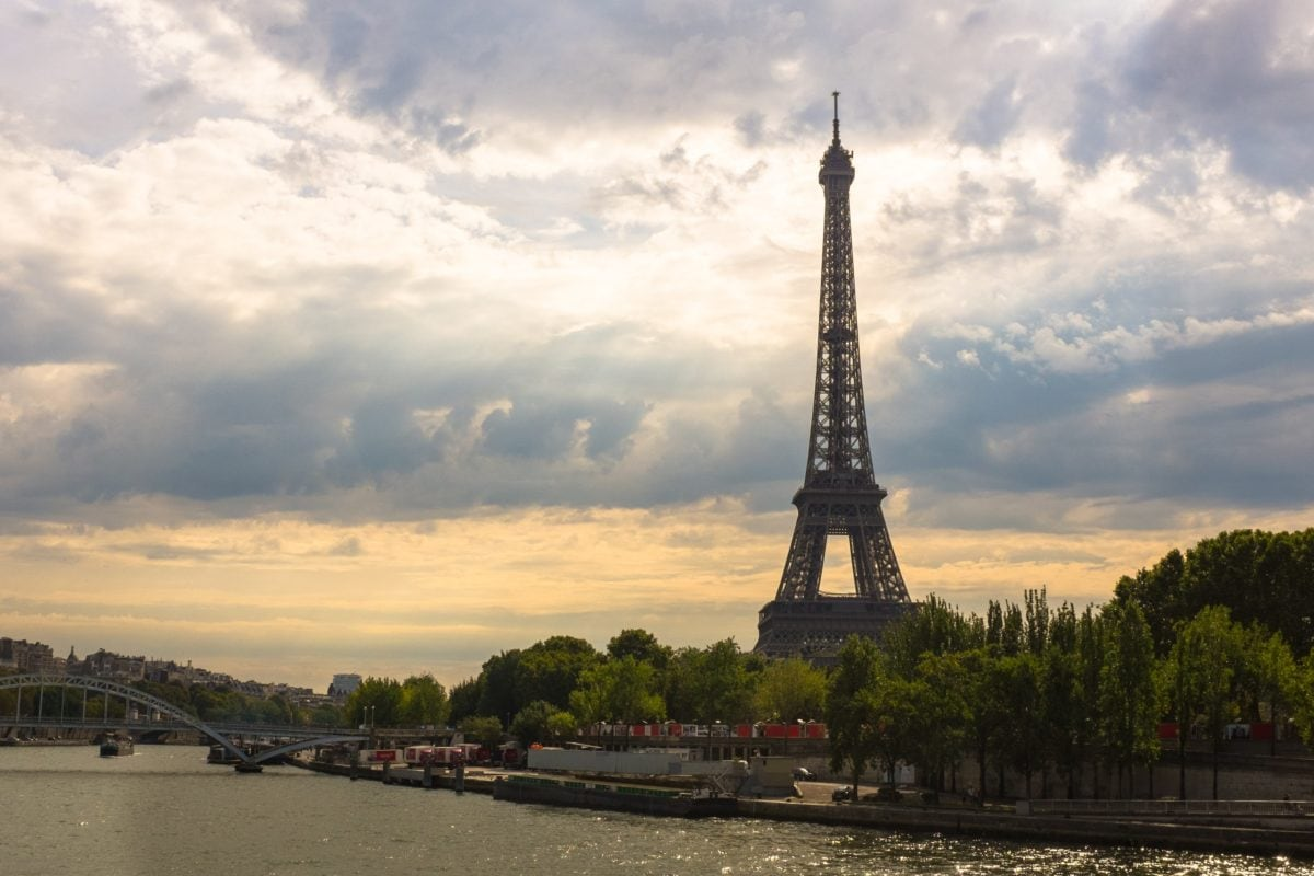 architecture, Paris, France, water, sunset, sky, tower, travel, tourism