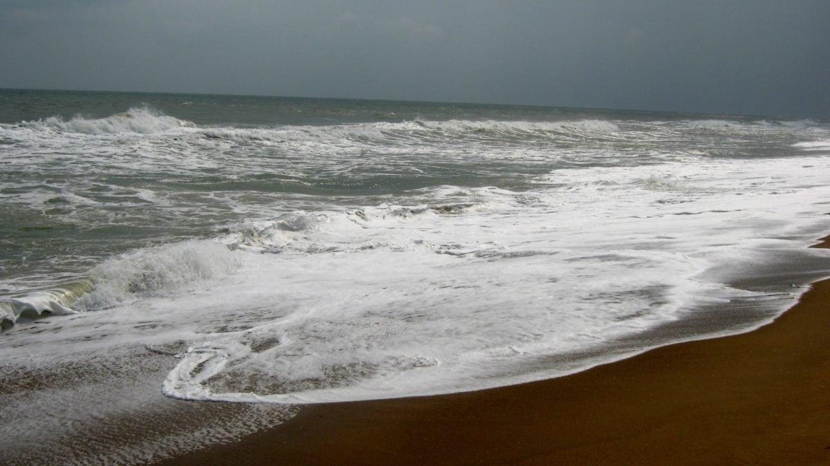 海洋, 海, 泡沫, 海滨, 水, 日落, 海滩, 波, 沙子