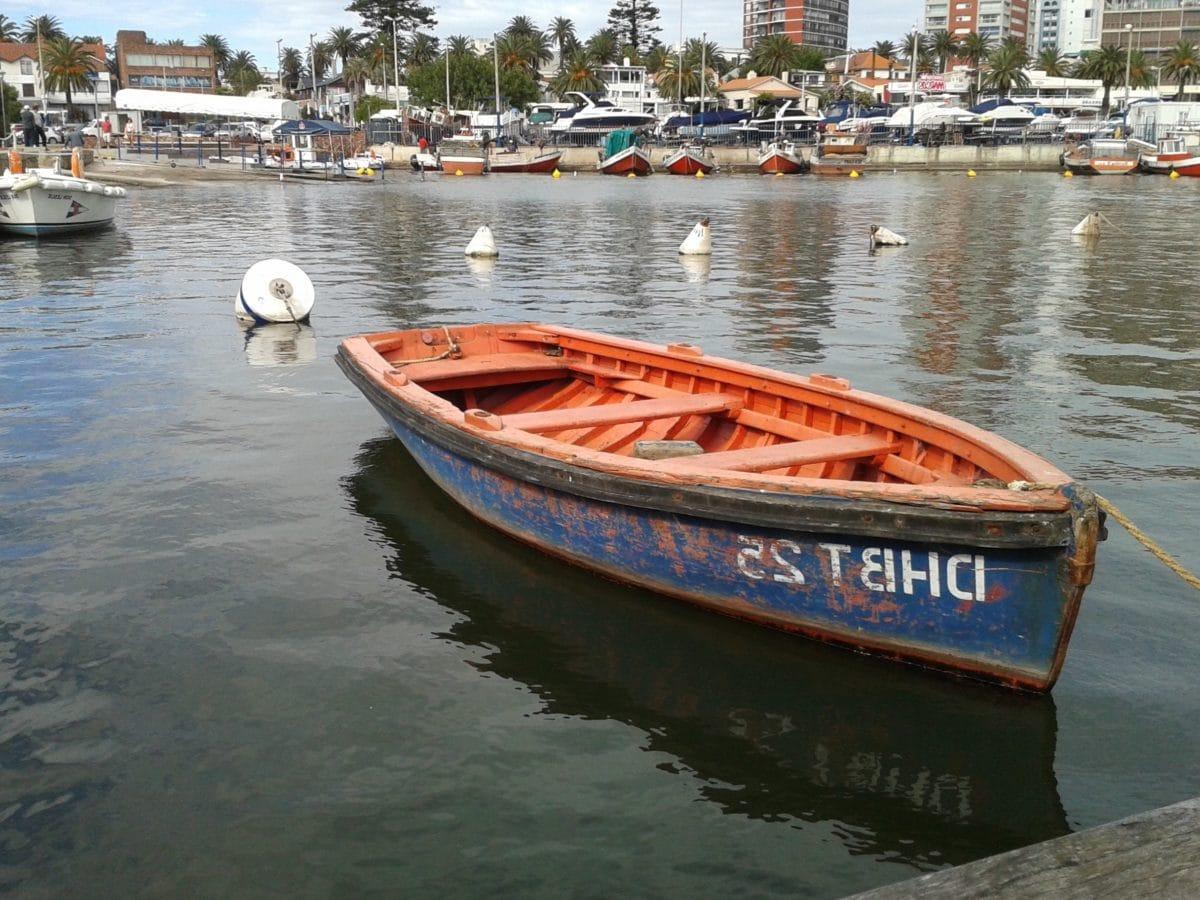 řeka, molo, moře, voda, vodní skútry, člun, motorový člun, motorový člun