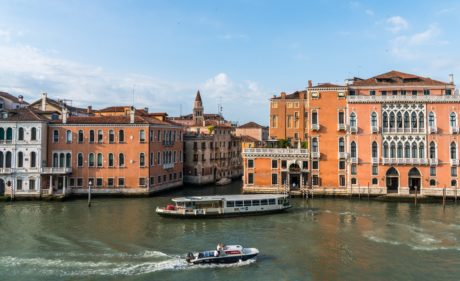 city, house, water, architecture, Venetain canal, boat, river, waterfront