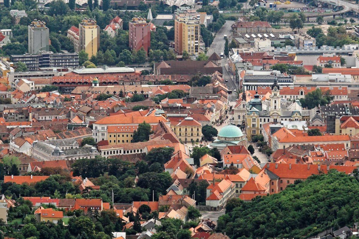 town, church, roof, house, cityscape, architecture, city