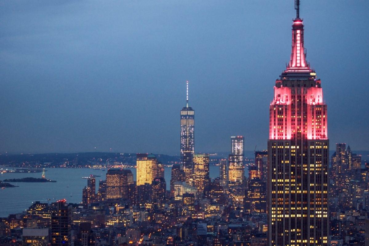 ніч, міський пейзаж, місто, архітектура, метрополія, міські, ніч, Downtown, башта