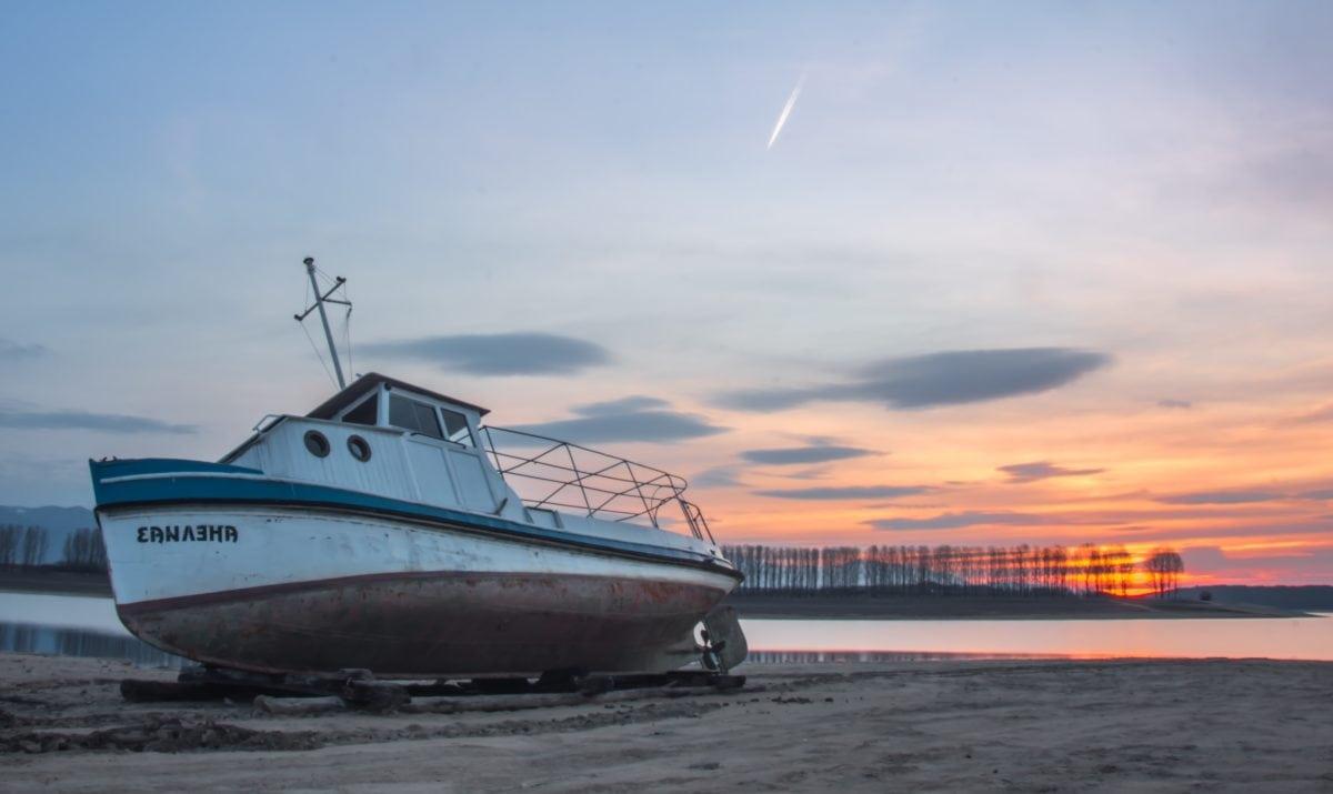 more, brod, vodeni obrt, voda, brod, pijesak, zalazak sunca, okoliš, ekologija, vozilo, luka