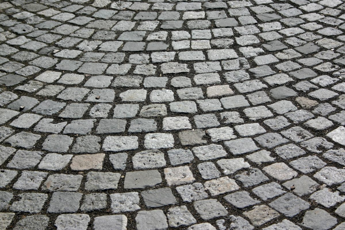 pevná látka, textura, kámen, vzor, šedé dlažební kostky, zem, chodník, Urban