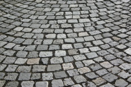 solid, texture, stone, pattern, grey cobblestone, ground, pavement, urban