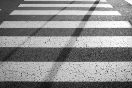 street, road, stripe, asphalt, pavement, wall, brick, surface, pattern