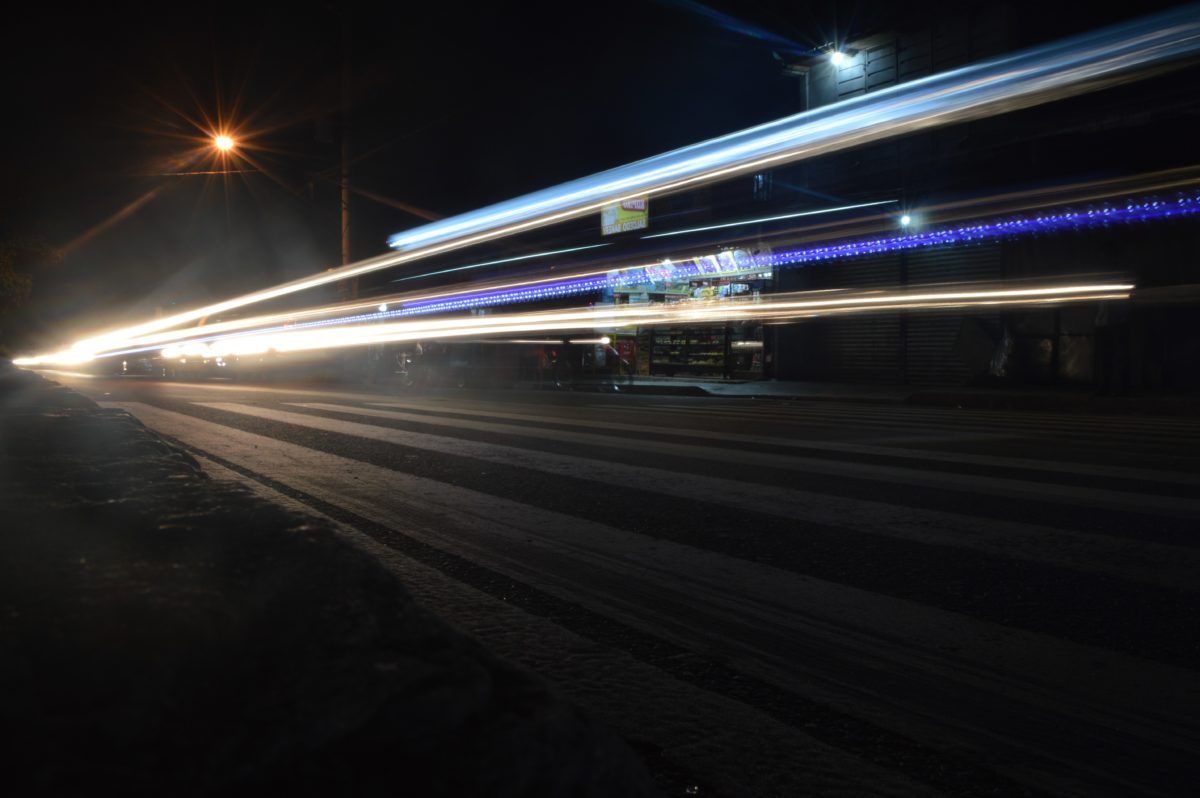 juna, Nopea, hämärä, liikenne, yö, valo, pimeys, katu, keskusta