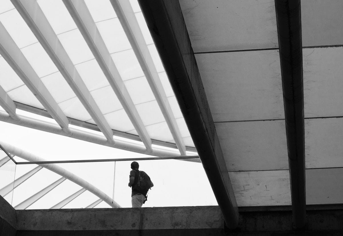 city, airport, roof, monochrome, architecture, people, window