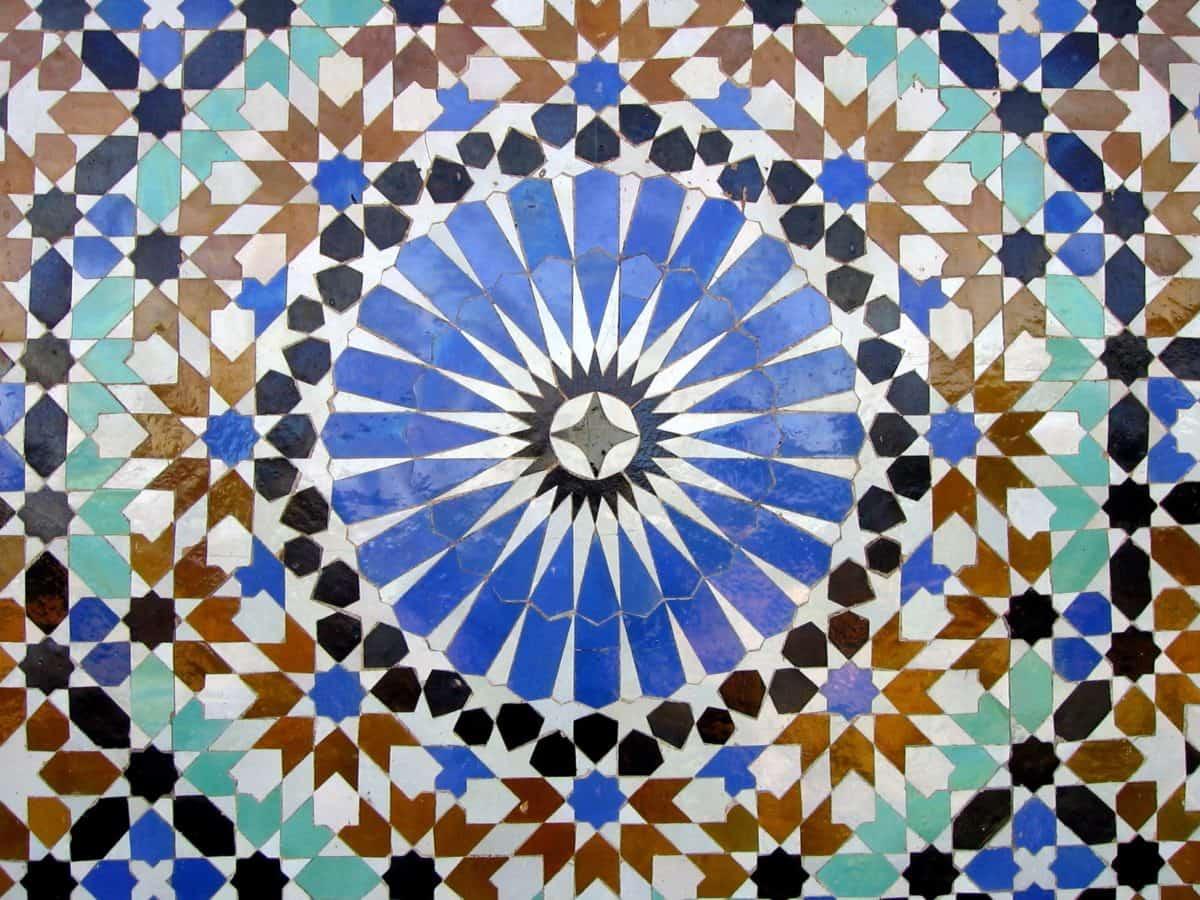 mozaika, ornament, umění, abstraktní, geometrické, ilustrace, textura, vzor, design