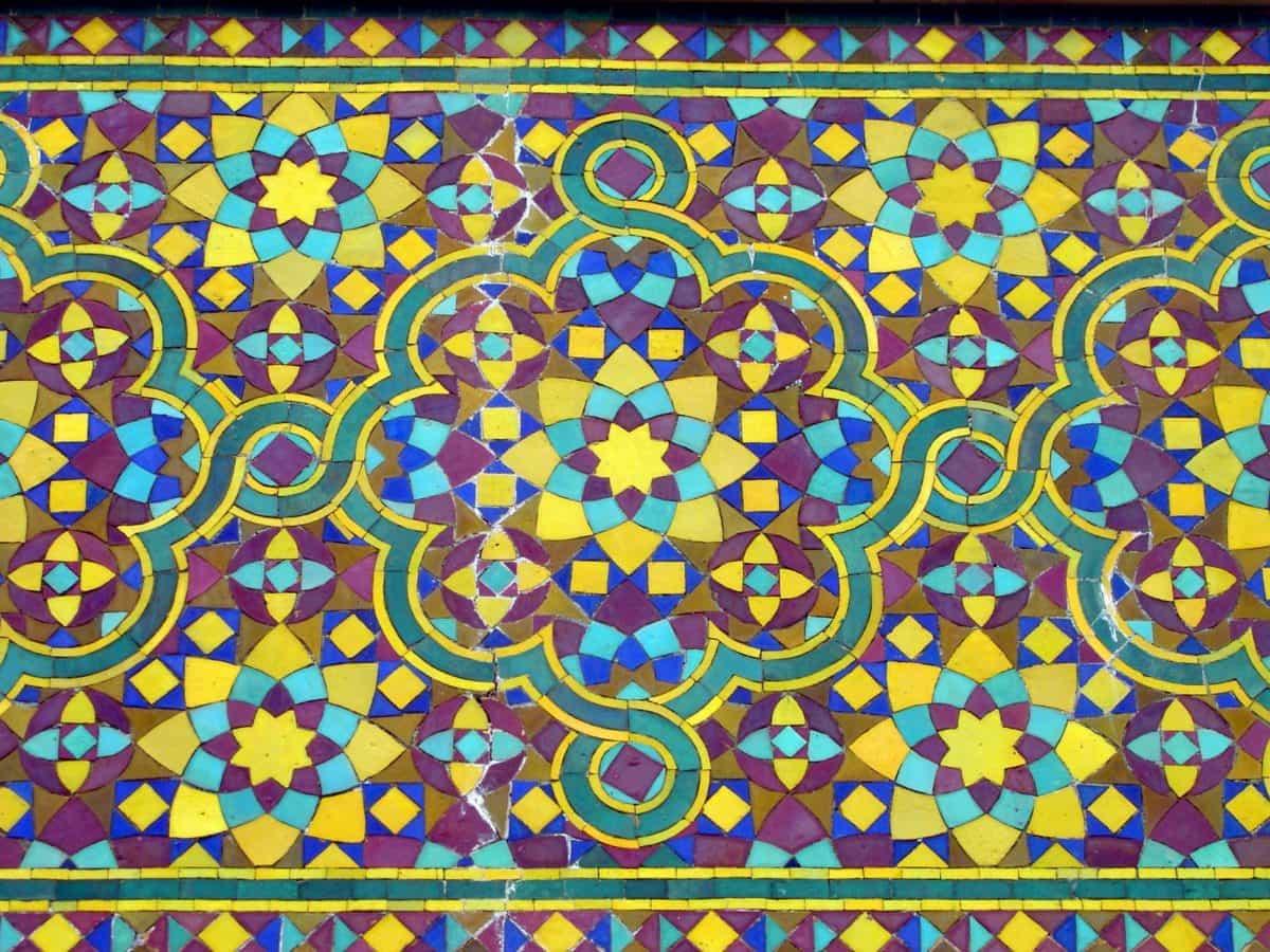 mozaik, Arabesque, apstraktni, tekstura, ilustracija, umjetnost, dizajn, uzorak