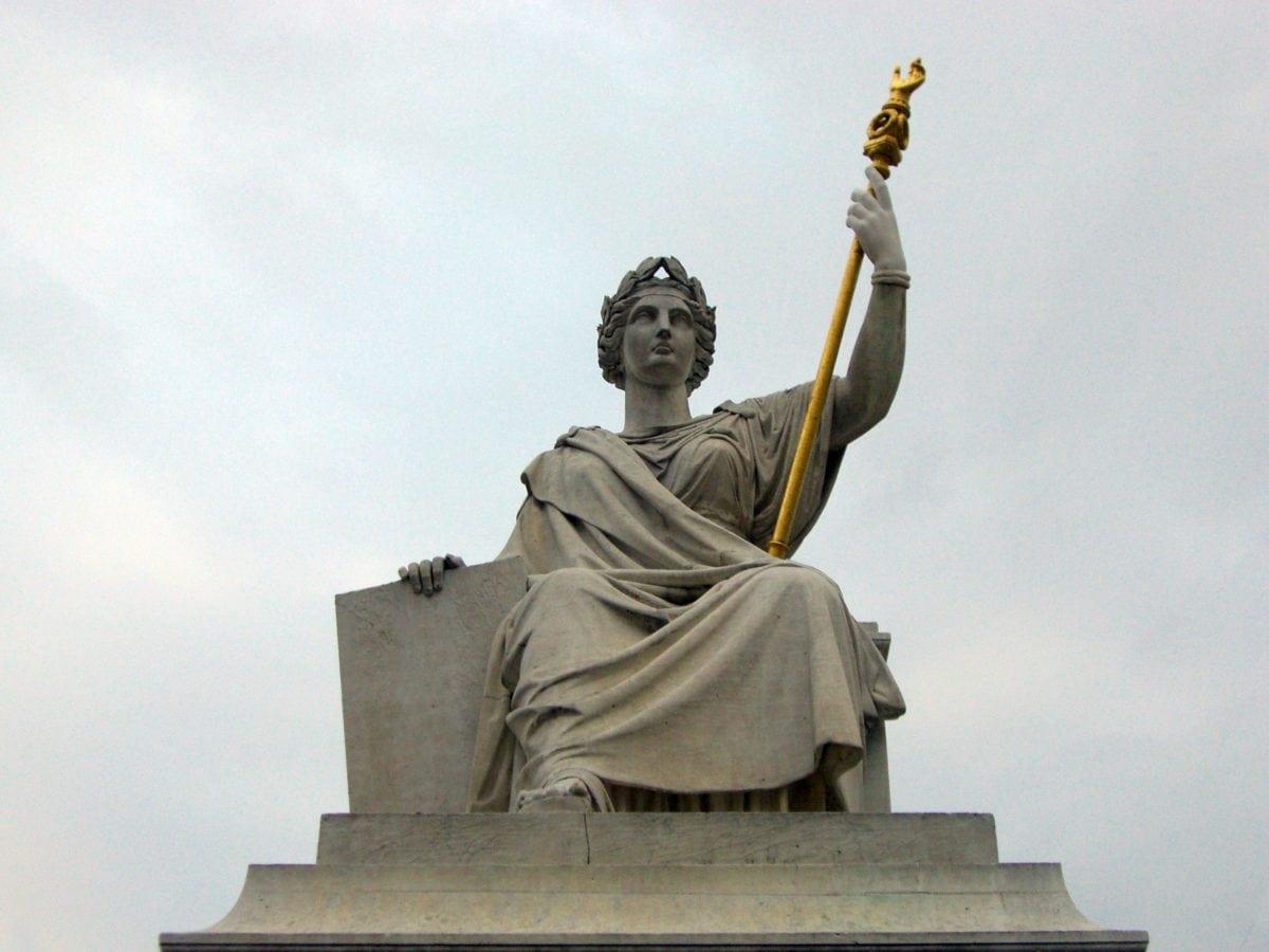 art, sky, sculpture, statue, pedestal, monument, architecture