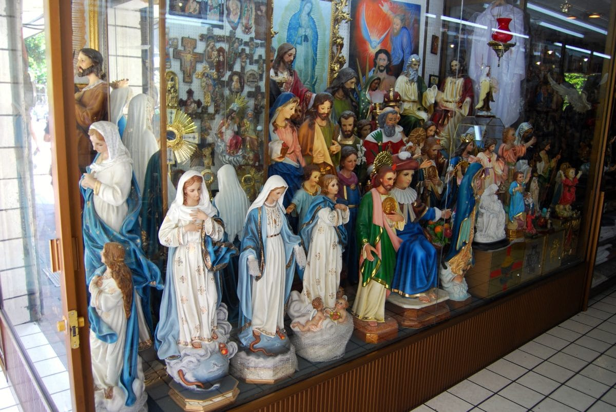 sculpture, colorful, art, glass, object, people, religion