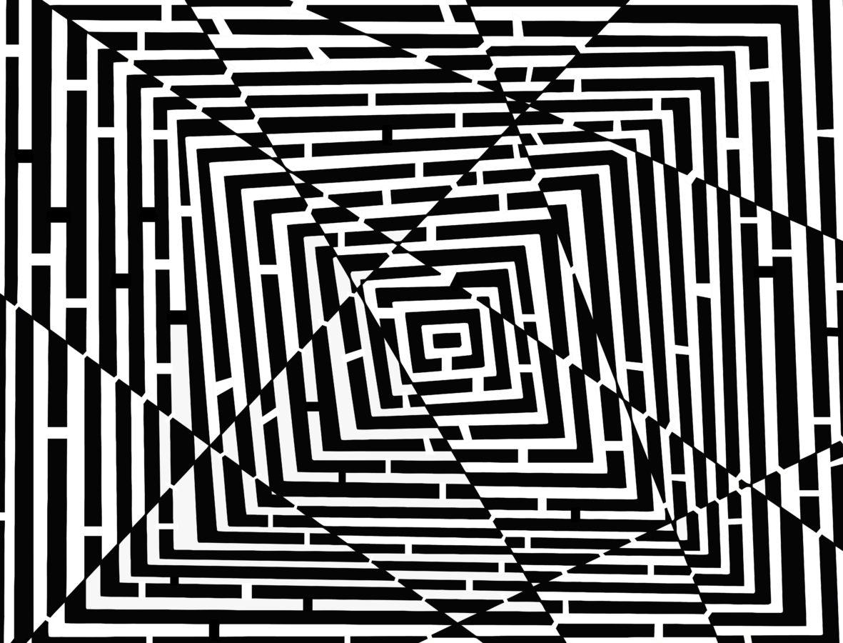 oblik, uzorak, grafika, ilustracija, labirint, dizajn
