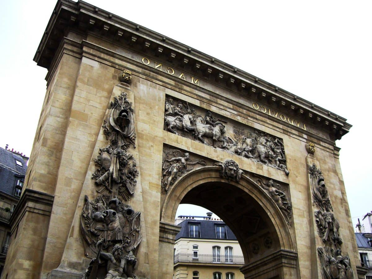 порта, небе, паметник, стар, град, архитектура, паметник, арх, структура